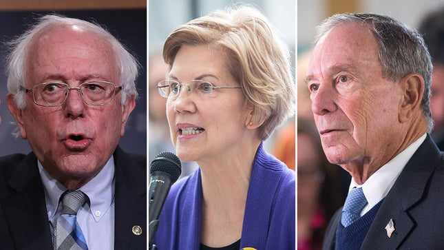 The Democratic Party is clearly split along progressive-centrist lines on domestic politics