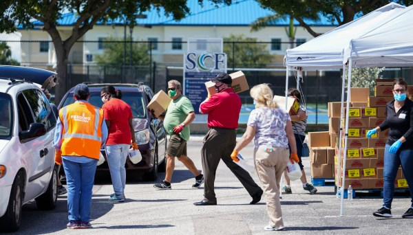Feeding Tampa Bay opened the new drive-through food bank — dubbed a mega-pantry — in Manatee County