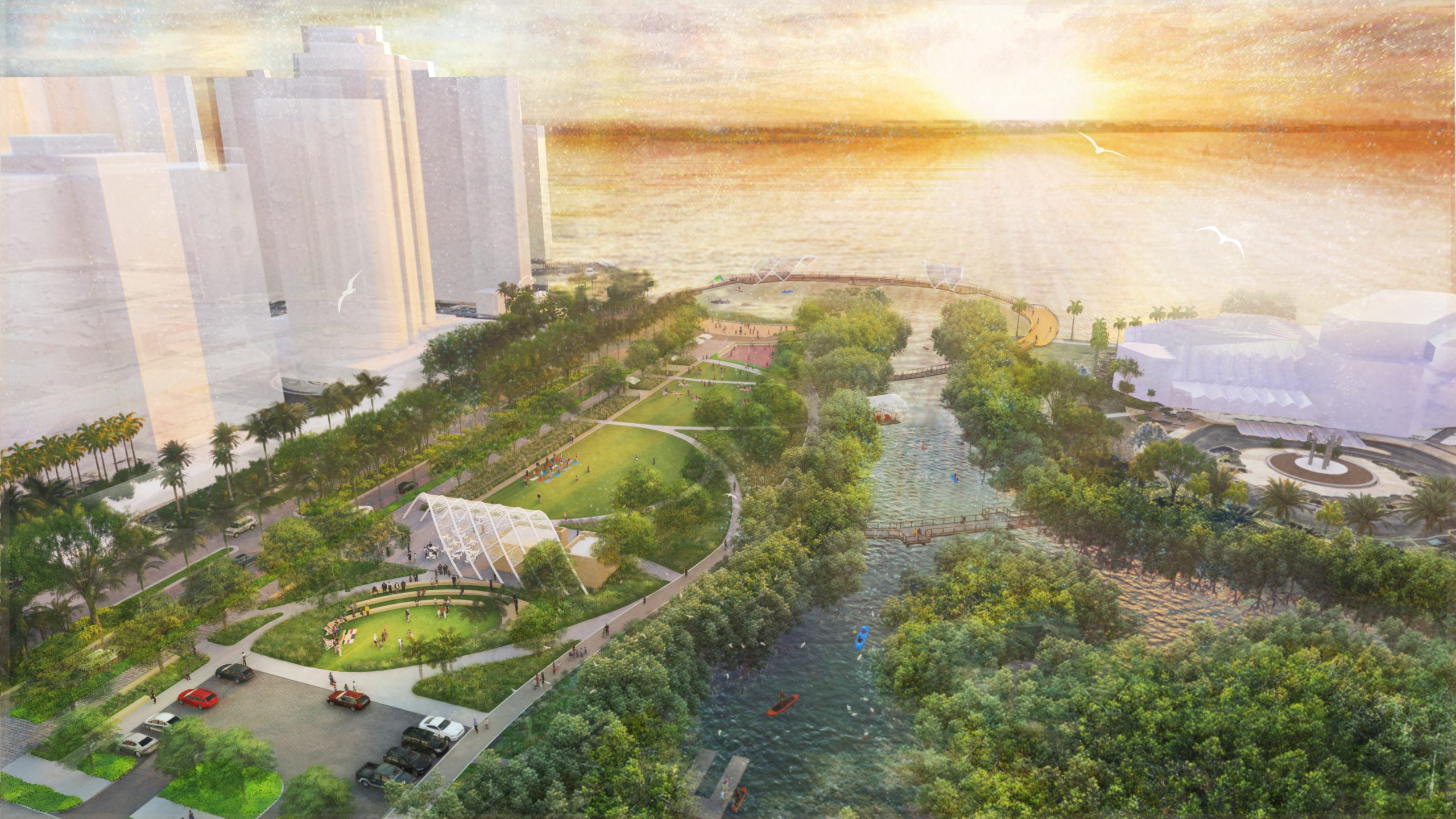 The Bay Park Celebrates Mangrove Walkway